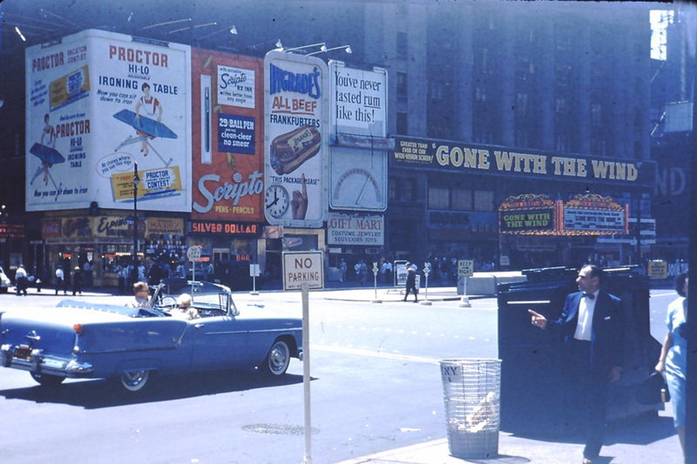 GONE WITH THE WIND AT BROADWAY'S LOEW'S STATE THEATER WHERE IT OPENED IN 1954